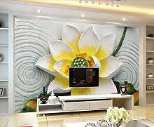 Fototapete 3D Effekt Blumenrelieflinien Sind