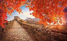 Fototapete 3D Effekt Chinesische Mauer, Rote