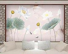 Fototapete 3D Effekt Einfache Tinte Lotus Tapeten