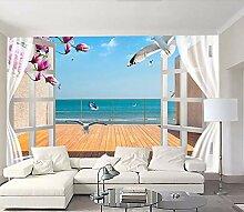 Fototapete 3D Effekt Einfacher Balkon Mit