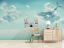 Fototapete 3D Effekt Fantasy Fischschloss