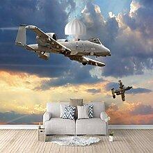 Fototapete 3D Effekt Flugzeug Vlies Tapeten