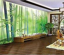 Fototapete 3D Effekt Frische Bambuswaldeinfache