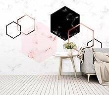 Fototapete 3D Effekt Geometrische Hintergrundwand
