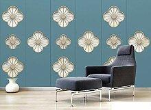 Fototapete 3D Effekt Geometrisches Blumenmuster