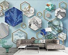 Fototapete 3D Effekt Geometrisches Steinmuster Der