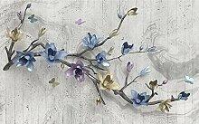 Fototapete 3D Effekt Geprägte Blume Schmetterling