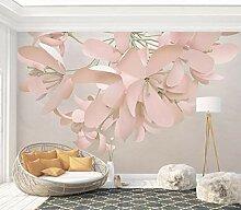 Fototapete 3D Effekt Geprägte Blumen Tapete