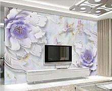 Fototapete 3D Effekt Geprägte Blumen Und