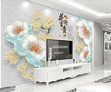 Fototapete 3D Effekt Geprägte Blumenpfingstrose