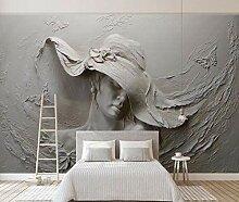 Fototapete 3D Effekt Geprägte Graue Betonwand