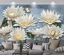 Fototapete 3D Effekt Geprägte Sonnenblume Retro