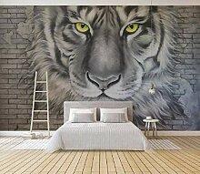 Fototapete 3D Effekt Geprägte Tiger Tiger Brick