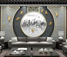 Fototapete 3D Effekt Goldene Linien Chinesischer