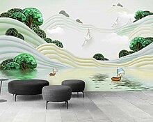 Fototapete 3D Effekt Grüne Landschaft Des