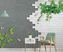 Fototapete 3D Effekt Grüne Pflanze Mauer