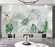 Fototapete 3D Effekt Hand Gezeichnete Grüne