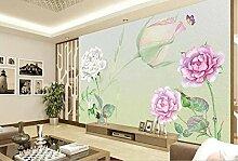 Fototapete 3D Effekt Handbemalte Rosen Blumen Von