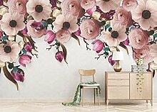 Fototapete 3D Effekt Handbemalte Rosenblütenrebe