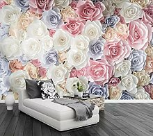 Fototapete 3D Effekt Handgemalte Blumen Idyllische
