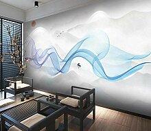 Fototapete 3D Effekt Handgemalte Tintenlandschaft