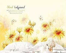 Fototapete 3D Effekt Handgezeichnete Sonnenblume