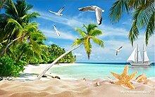 Fototapete 3D Effekt Insel Strand Tapeten