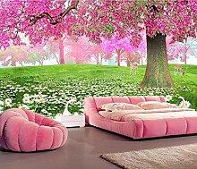 Fototapete 3D Effekt Kirschblütenbaum,