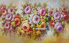 Fototapete 3D Effekt Kunstblumenfarbe Tapete