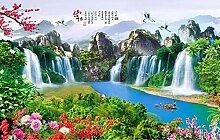 Fototapete 3D Effekt Landschaft