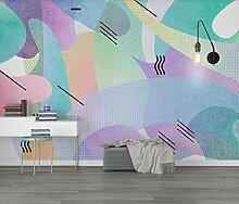 Fototapete 3D Effekt Lila Abstraktes Muster Modern