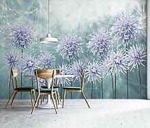 Fototapete 3D Effekt Lila Blume Der Geometrischen