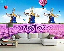 Fototapete 3D Effekt Lila Blume Lavendel