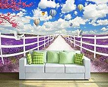 Fototapete 3D Effekt Lila Lavendel Idyllische