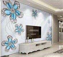 Fototapete 3D Effekt Luxuriöse Diamond Blumen Und
