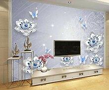 Fototapete 3D Effekt Luxus Mit Blauem