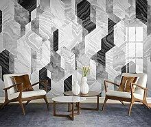 Fototapete 3D Effekt Marmor mit geometrischem
