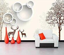 Fototapete 3D Effekt Moderne Vereinfachte Elk
