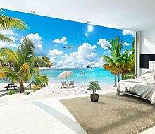 Fototapete 3D Effekt Palme Himmel Und Weiße