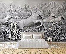 Fototapete 3D Effekt Pferd Relief Moderne