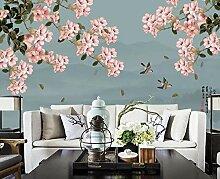 Fototapete 3D Effekt Rosa Blumenbürstenvogel Der