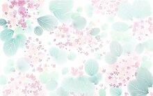 Fototapete 3D Effekt Rosa Blumenromantik