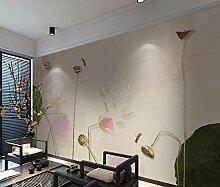 Fototapete 3D Effekt Rosa Lotus Der Chinesischen