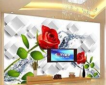 Fototapete 3D Effekt Rosafarbene Hintergrundwand
