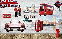 Fototapete 3D Effekt Rotes London -250Cmx175Cm