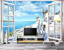 Fototapete 3D Effekt Schlossfenster Mit Meerblick
