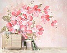 Fototapete 3D Effekt Schöne Handgemalte Blumen 3D