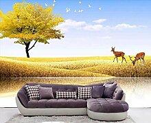 Fototapete 3D Effekt Schöne Kitzlandschaftsbäume