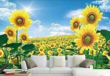 Fototapete 3D Effekt Sonnenblume Hirtenlandschaft