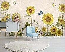 Fototapete 3D Effekt Sonnenblume Pflanze Tapeten